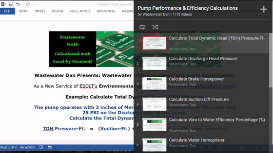 Waste Water Math Solution Educational Videos | ESDLT