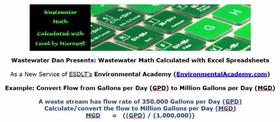 Calculate each Flow Conversion in Gallons | ESDLT